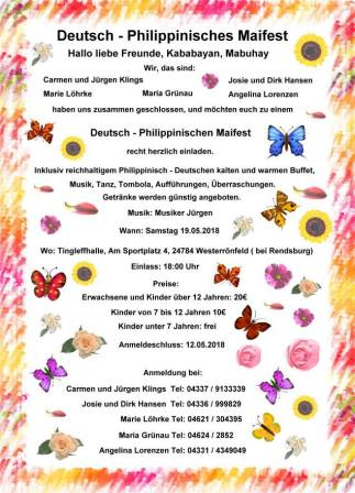 DEUTSCH-PHILIPPINISCHESMAIFEST 2018