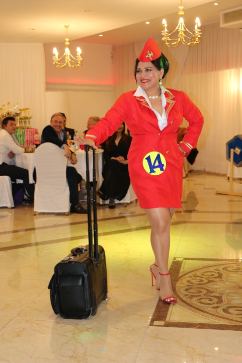 Sexy XL Beauty Queen Hamburg 2019 Candidate #14 Best in Stewardess Costume Competition