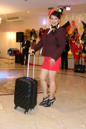 Sexy XL Beauty Queen Hamburg 2019 Candidate #16 Best in Stewardess Costume Competition