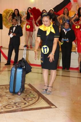 THE WINNER: Carmen Becker. Best in Stewardess Costume Golden Lady Beauty Queen Hamburg 2019