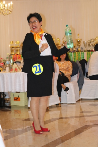 Golden Lady Beauty Queen Hamburg 2019 Candidate #20 Best in Stewardess Costume Competition