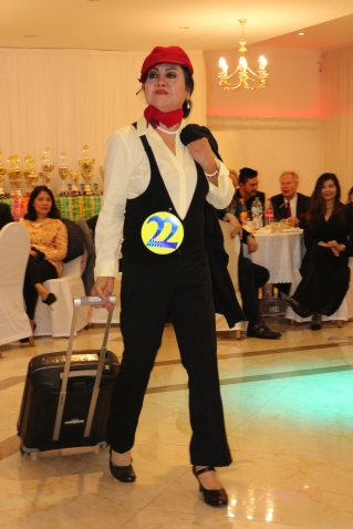 Golden Lady Beauty Queen Hamburg 2019 Candidate #21 Best in Stewardess Costume Competition