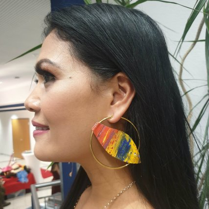 """AMIHAN"" Shineth Jewelry Collection by Helen Svendgaard, painting"